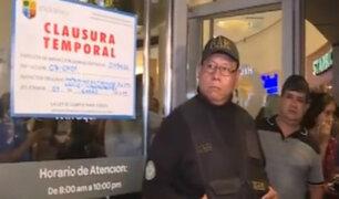 Jesús María: clausuran temporalmente Real Plaza Salaverry