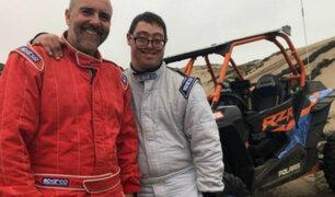 Lucas Barrón, el primer piloto con síndrome de Down del Rally Dakar