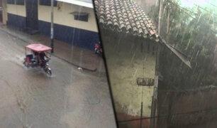 Piura: lluvia torrencial sorprendió a población de la ciudad de Huancabamba