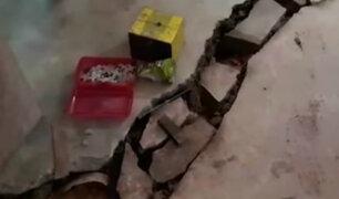 Loreto: sismos provocaron rajaduras en viviendas