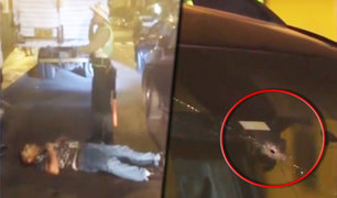 Lince: agente policial dispara a conductor que lo atropelló durante operativo de tránsito