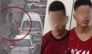 Capturan a raqueteros menores de edad que sembraban el terror en las calles de Barrios Altos