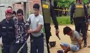 Puerto Maldonado: policía captura a ladrones tras cometer un asalto
