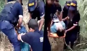 Cañete: serenos rescatan a menor que cayó en canal de regadío