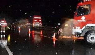 Casma: un muerto y 10 heridos deja choque entre bus y camión
