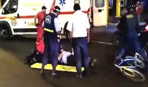 Cercado de Lima: ciclista fue atropellado por auto en la av. 28 de Julio