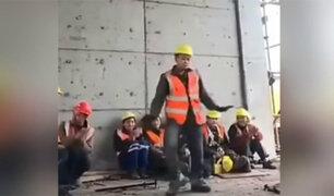 VIDEO: obrero revoluciona las redes al bailar como Michael Jackson