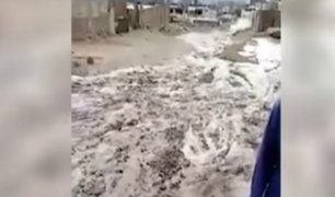 Chosica: deslizamiento de lodo y piedras causó pánico entre vecinos