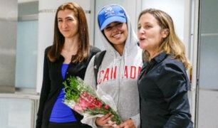 Joven saudí que renunció al islam y escapó llegó a Canadá