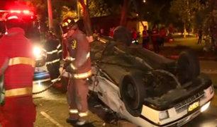 Pueblo Libre: tres personas heridas tras violento accidente de tránsito