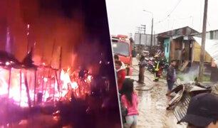 Iquitos: voraz incendio deja a 10 familias damnificadas