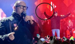 Polonia: en medio de evento benéfico alcalde es apuñalado por un ex convicto