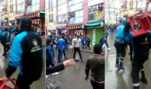 Enfrentamiento en Gamarra entre comerciantes ambulantes y municipio de La Victoria
