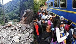 Cusco: derrumbe bloquea vía férrea que conecta con Machu Picchu