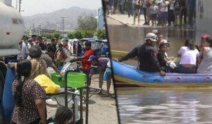 SJL: vecinos están sin agua desde hace tres días a consecuencia de gigantesco aniego