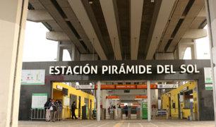 Anuncian cierre temporal de estación Pirámide del Sol del Metro de Lima