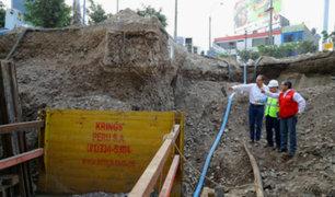 Emergencia sanitaria en SJL: presidente Vizcarra supervisa trabajos de reparación de colector