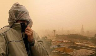 Egipto: gran tormenta de arena obliga a paralizar actividades en el Cairo