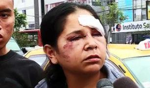 MIMP apoyará a mujer desfigurada con una piedra por su expareja
