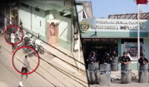 Piura: familiares de delincuente abatido por agente PNP apedrean comisaría de Tacalá