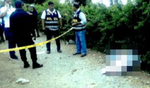 Huaral:  encuentran cuerpo de mujer cerca de un canal de regadío y detienen a su pareja