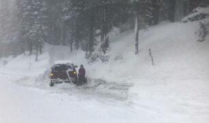 Decenas de casas quedaron enterradas tras fuertes nieves en Turquía