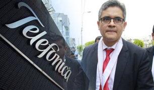 Fiscal José Domingo Pérez realiza diligencia en local de Telefónica en La Victoria