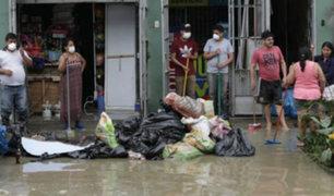 Destruyen enseres contaminados tras el aniego de aguas servidas en SJL