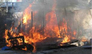 Cañete: incendio consumió más 30 casas y dejó a 120 personas en la calle