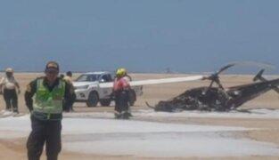 Tragedia en Ilo: dos personas mueren tras caída de helicóptero de instrucción del Ejército