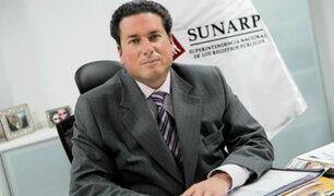 PJ dicta 12 meses de prisión preventiva contra exjefe de Sunarp