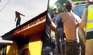 Delincuente trata de matarse tras haber robado un celular en Puerto Maldonado