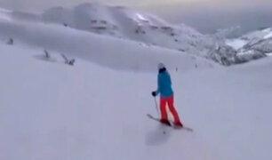 Esquiador grabó el preciso momento en el que derriban un misil