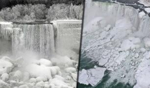 Tormenta invernal congela las cataratas del Niágara