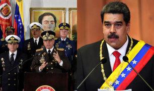 """Venezuela: Fuerzas Armadas respaldan a Maduro y denuncian """"golpe de Estado"""""""