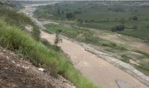 Panamericana Sur: tránsito en peligro ante posible desborde del río Mala