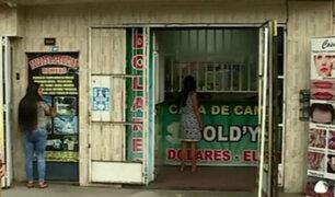 Los Olivos: Delincuentes asaltan casa de cambios y hieren a un cliente