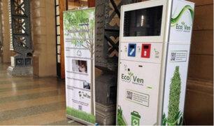Máquinas recompensan a quienes reciclen plástico y aluminio