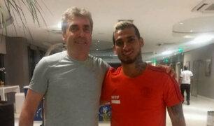 Miguel Trauco recibió la visita de Néstor Bonillo en Brasil