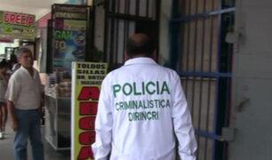 VES: Delincuentes roban 170 000 soles de casa de cambio