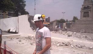 La Victoria: derriban muros del museo de la plaza Manco Cápac