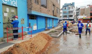 SJL: se restablece servicio eléctrico de todas las viviendas afectadas por aniego