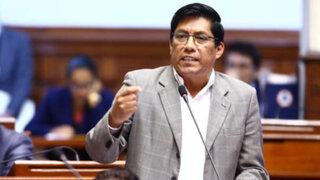 Vicente Zeballos: Pleno admitió moción de interpelación a ministro de Justicia