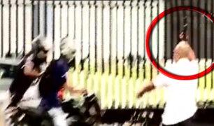 Vigilante de clínica dispara al aire y evita robo en la avenida Arequipa