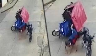 Tarapoto: mototaxi impacta aparatosamente contra un motociclista