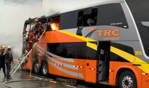 Incendio en Vía Evitamiento: empresa de bus anunció que indemnizará a pasajeros afectados