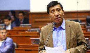 Moisés Mamani: Pleno levantó inmunidad parlamentaria a congresista