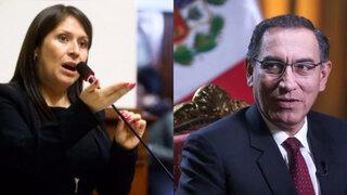 Yeni Vilcatoma presenta denuncia constitucional y penal contra el presidente Vizcarra
