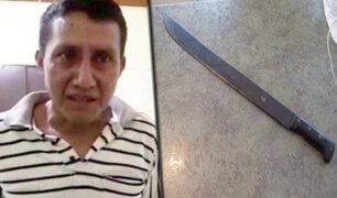 Tarapoto: hombre ataca a machetazos a su expareja y la deja grave