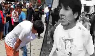 Cajamarca: vecinos castigan a latigazos a dos presuntos ladrones
